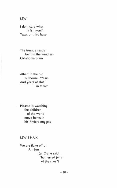 Jack Kerouac Albert Saijo And Lew Welch Trip Trap Haiku