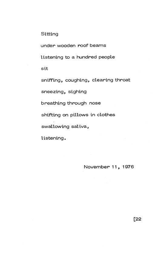Allen Ginsberg Collected Haiku