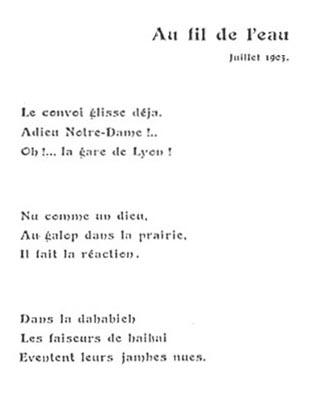 Paul-Louis Couchoud, Au fil de l'eau (Haiku), Terebess ...